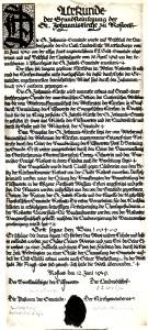 1949-06-12_Urkunde Grundsteinlegung 1